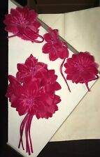 VIntage Millinery Velvet Flowers DIY Element UpCycle Incredible Pink Color Rare