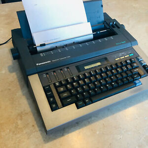 Vintage Panasonic T365 RK-T365 Electronic Typewriter with Cover