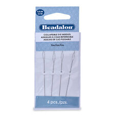 Beadalon Collapsible Eye Needles, 2.5 in (6.4 cm), Fine, 4 pc
