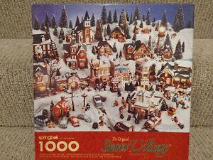 "Springbok Dept 56 Christmas Snow Village 1000 Piece 24"" x 30"" Jigsaw Puzzle 1997"