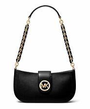 Michael Kors Shoulder Bag Carmen XS Pouchette Vanilla Black New