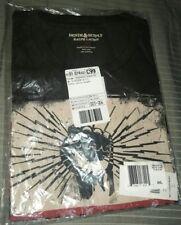 Ralph Lauren Denim Supply Black Fist Lightning Skull Bones RRL Graphic T-Shirt