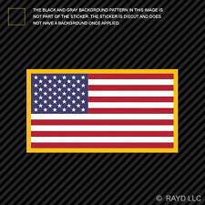 American Flag Gold Border Sticker Die Cut Decal USA America US flags