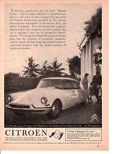 1959 CITROEN  ~  CLASSIC ORIGINAL PRNT AD