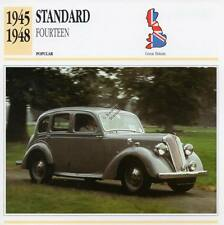 1945-1948 STANDARD FOURTEEN 14 Classic Car Photograph / Information Maxi Card