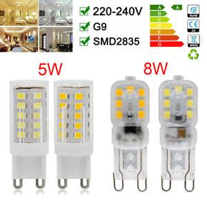 G9 5W 8W LED Bulbs Halogen ECO Light Bulb Clear Capsule Replaced 220-240V UK