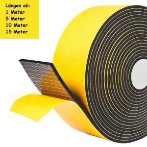 EPDM Moosgummi DICHTUNGSBAND Zellkautsch selbstklebend 50mm Rolle 1m - 15m
