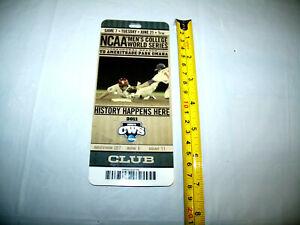 CWS 2011 College World Series CLUB Ticket Lanyard Pass Rare