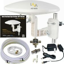 <span class=BOLD>LAVA HD-8000 360-DEGREES HDTV DIGITAL AMPLIFIED OUTDOOR TV ANTENNA HD VHF CABLE</span>