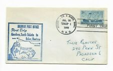 1955-EVENT COVER-HIGHWAY POST OFFICE-FIRST TRIP-ABERDEEN, SD TO BAKER, MT