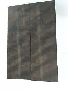 MACASSAR EBONY Book Matched black knife scales- blanks gun grips