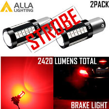 Alla 1156 LED STROBE Brake Light|Parking Light Bulb|Side Marker|Tail|Turn Signal