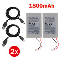 Fast Charging Rechargeable Battery with USB Cable for PS3 Controllers AC1746