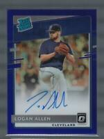 2020 Donruss Optic RR Signatures Purple Logan Allen Auto Cubs /125  ID:39003