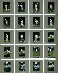 LCM4-3 VTG Golf Senior PGA Championship Lee Trevino LOT (93pc) ORIG 35mm Slides