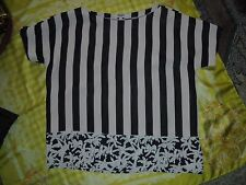 Top KENZO  tg 36 francese white black striped tunic  bluse shirt,top,кофта