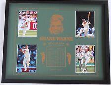 New Shane Warne Collectors Memorabilia Framed
