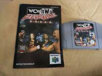 WCW NWO Revenge - N64 Nintendo 64 Retro Game Cartridge and manual