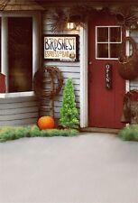 5x7ft Open Store Wooden Door Scene Photography Backgrounds Vinyl Photo Backdrops