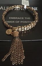 Gold Limited Edition Wrap Bracelet Bangle Alex and Ani Stepping Stone Tassel R