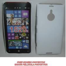 Pellicola+custodia BACK COVER RIGIDA BIANCA per Nokia Lumia 1520