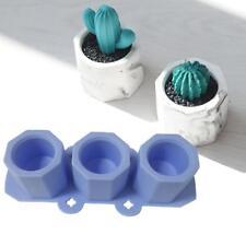 Silicone Mold Succulent Flower Pot Garden Planter Cement Vase DIY Mould BM