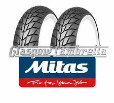 2 x MITAS MC20350x10 WHITEWALL SCOOTER TYRES for AJS MODENA, Vespa PX,T5, Rally