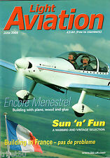 Light Aviation Magazine 2008 June Jabiru,Encore Menestrel,Sun N Fun Warbirds