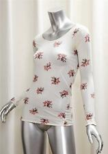 MARNI Womens Cream Floral Cotton Jersey Long Sleeve Casual Shirt Top Blouse 42/S