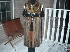 Stylish Full Length Raccoon Fur Vest for Coat Jacket SM