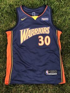 Golden State Warriors Stephen Curry Throwback 'We Believe' Stitched Jersey #30