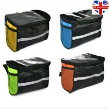 New Bicycle Bags Canvas Bike Basket Front Waterproof Durable Large Bag LH