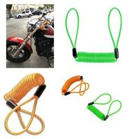 DISC LOCK REMINDER CABLE For MOTORCYCLE MOTORBIKE SCOOTER BIKE 4 Colors