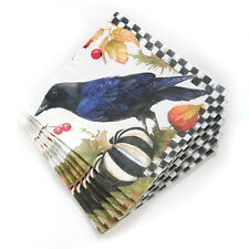 Mackenzie-Childs Autumn / Halloween Paper Cocktail Napkins-Courtly Check-Pack/20