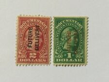 USA $1,$2 Overprints Future Delivery Old Stamps