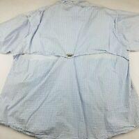 Columbia PFG Men's XXL Vented Fishing Shirt Long Sleeve Blue Super Bonehead