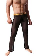 Men's Sheer Mesh Breathable Long Pants Sexy Lingerie Pyjama Trousers Night Wear