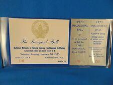 Inaugural Ball ticket Richard M Nixon Smithsonian Bldg. January 20 1973 #5748