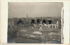 WW1 Panoramic view of shell damaged St Quentin Somme France