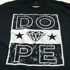 Dope Diamond Star Men's Short Sleeve T Shirt 4XL XXXXL Black White Crewneck