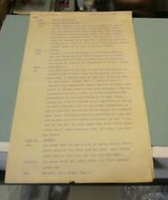 1947 KYW Philadelphia Pennsylvania Radio Station The Lunchtimers Show Script 5pg
