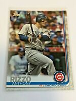 2019 Topps Baseball Base Card - Anthony Rizzo - Chicago Cubs