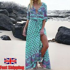 Sexy Women Maxi Floral Beach Long Summer Sexy Evening Cocktail Party Prom Dress