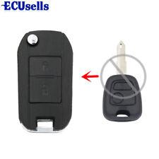Flip Remote Key Case for 2 BTN PEUGEOT 206 205 405 106 Keyless Entry Remote Fob