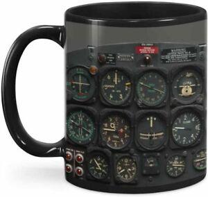 Pilot Indicator Coffee Mug, Plane Mug Blue Sky Coffee Mug