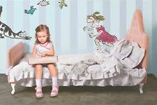Kinderbett Kinderzimmer Jugendbett Quinn Massivholz Stoff Premium Qualität