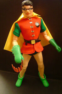 Vintage 1967 IDEAL ACTION BOY ROBIN Costume Set & Figure BATMAN CAPTAIN Wonder