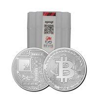 2021 Bitcoin Crypto Commemorative 1oz 999 Silver Round BTC Blockchain Mint