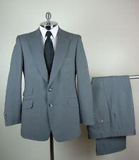 Classic FIORAVANTI Mens Gray POLY Twill 2 Button Suit size 40 S