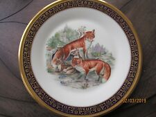Lenox Plate1974 Boehm Red Foxes w Pups Woodland Wildlife Annual Ltd Edition Usa